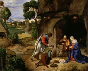 Giorgione, L'adorazione dei pastori (1500-1510), National Gallery of Art, Washington DC, USA.