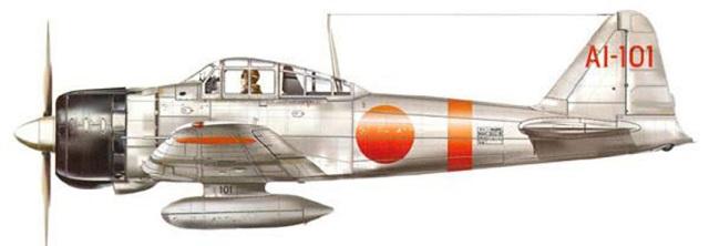 Caccia  Mitsubishi A6M Zero della Portaerei Akagi