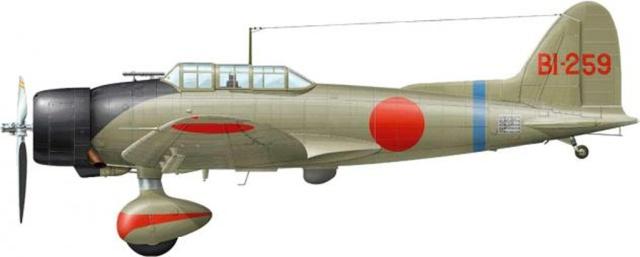 Bombardiere  Aichi D3 della Portaerei Soryu