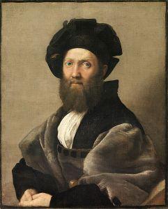 Ritratto di Baldassarre Castiglione, Raffaello Sanzio, probabile inverno 1514-1515, olio su tela, Museo del Louvre.