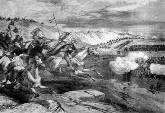 La Battaglia del Rosebud in una Stampa dell' Epoca