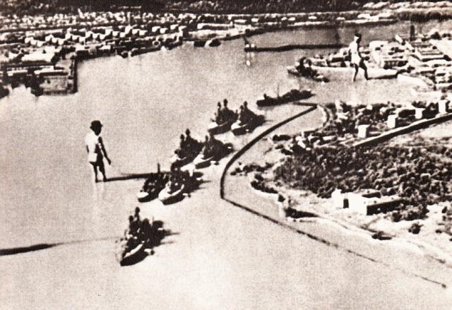 Plastico della base di Pearl Harbor  realizzato in Giappone