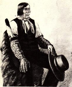 Wovoka il Profeta Paiute in un ritratto del 1891