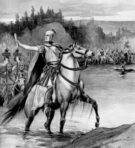 Cesare attraversa il Rubicone