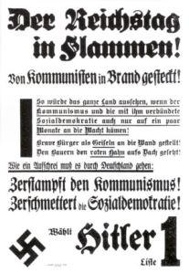 L'incendio del Reichstag in un volantino nazista