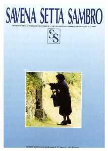Zia Dorotea davanti al pilastrino nella foto scelta poi per la copertina del primo numero della rivista (foto di Antonio Santi e Claudio Vaioli)