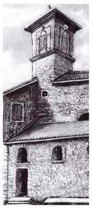 La chiesa di Sant'Andrea di Savena ritratta da Sergio Martini